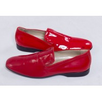 Red Loafer Men's Party Slip On Shoes
